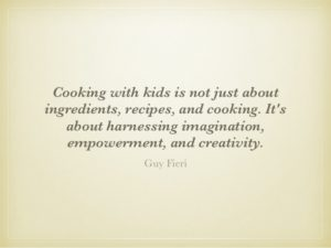Cooking with kids tip
