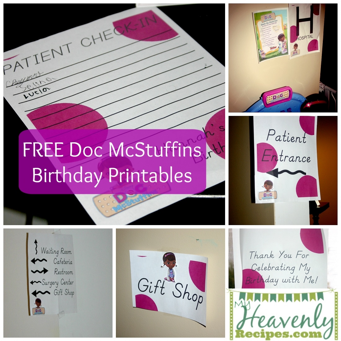 Free Doc McStuffins Birthday Printables