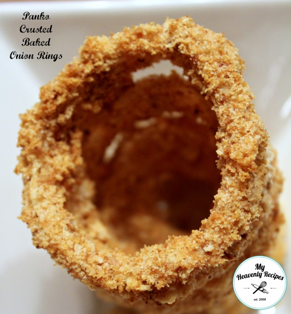 Panko Crusted baked onion rings