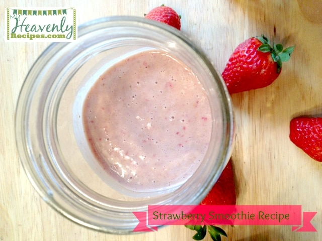 titled image (and shown): Strawberry Smoothie Recipe