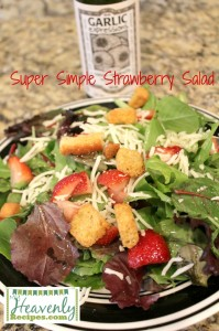 Super Simple Strawberry Salad