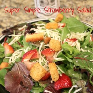 Super Simple Strawberry Salad
