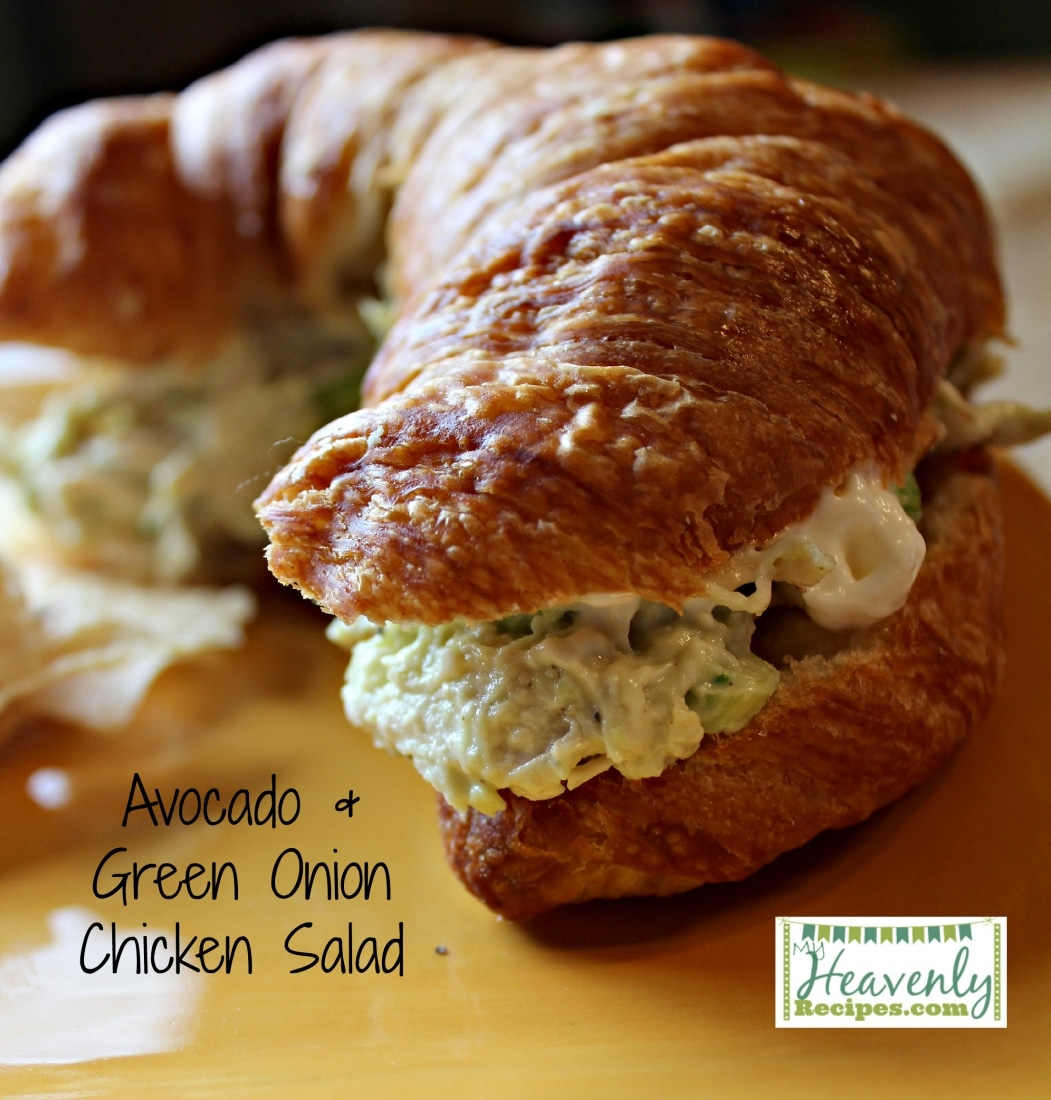 Avocado & Green Onion Chicken Salad (via MyHeavenlyRecipes.com) - By looking at the picture of this amazing chicken salad below you would NEVER guess that there is a entire avocado in this recipe. A great way to sneak in a healthy fat that contains protein is are rich in vitamins K, B, D and E.