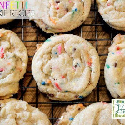 a batch of homemade Funfetti cookies
