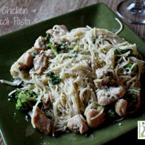Garlic Chicken and Broccoli Pasta