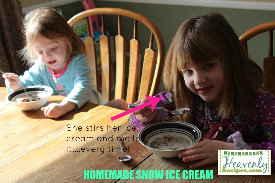 Snow Ice Cream (via MyHeavenlyRecipes.com) - Turn freshly fallen snow into amazing snow ice cream with just 3 simple ingredients. A fun snow day activity to do with the kids!