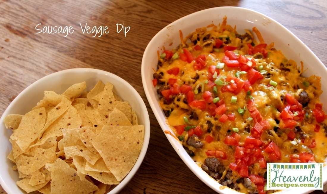 Sausage Dip Packed with Veggies