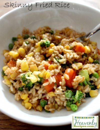 Skinny Fried Rice -(from MyHeavenlyRecipes.com - A simple and easy dish that helps you get those veggies and whole grains in your diet in a delicious way!