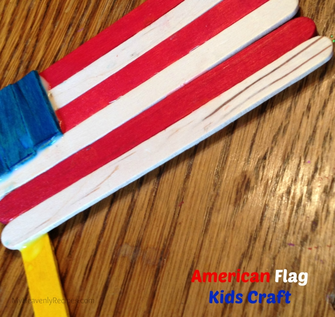 American Flag Popsicle Stick Craft for Kids