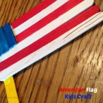 American Flag Popsicle Stick Craft
