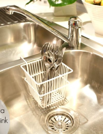 titled photo: how to clean a stainless steel sink