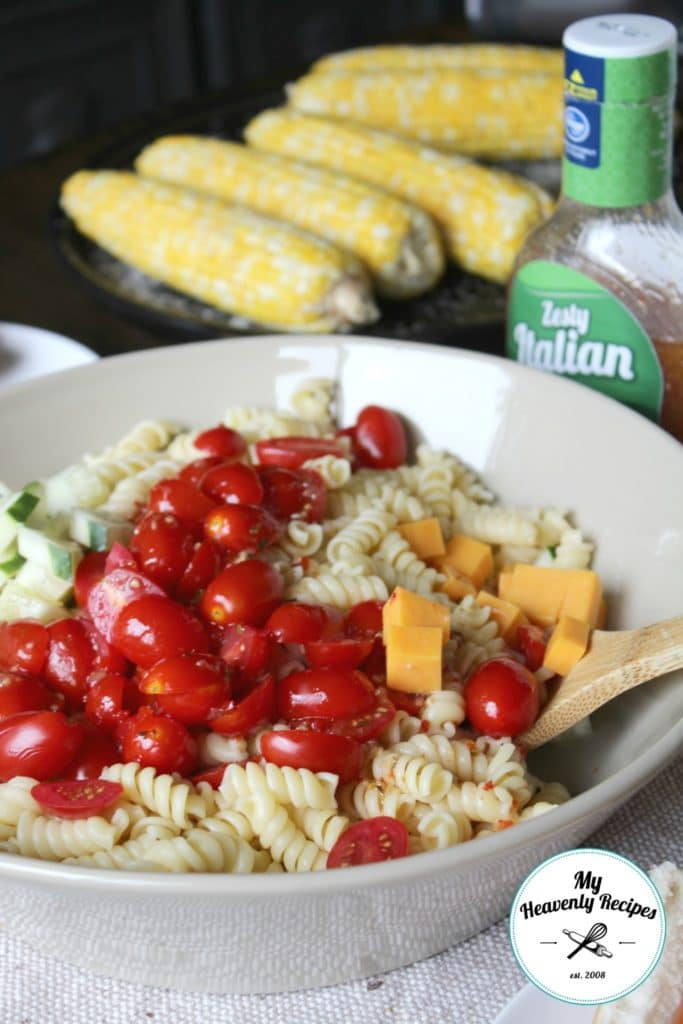 Italian Pasta Salad + Video - My Heavenly Recipes