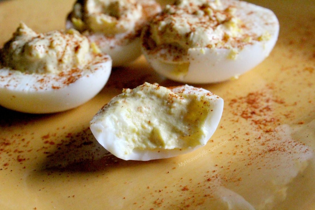 Marci's Famous Deviled Eggs Recipe | MyHeavenlyRecipes.com