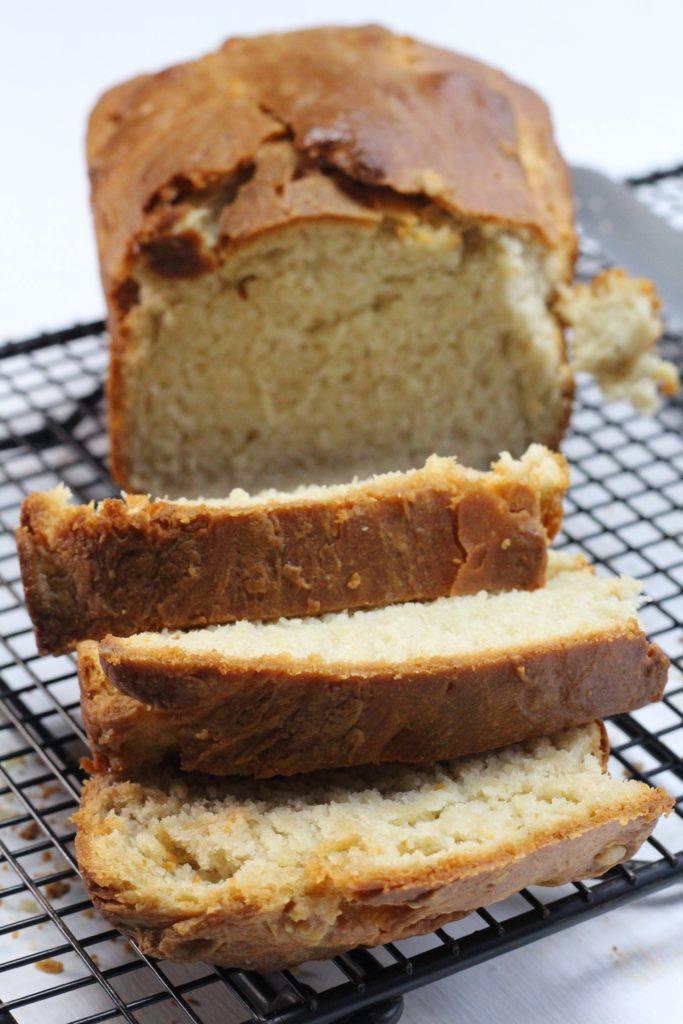white bread baked