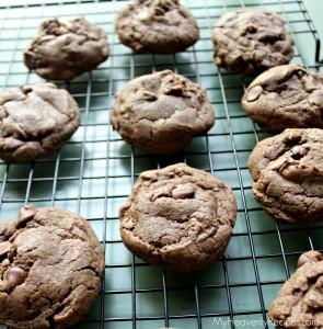 Chocolate Chocolate Chocoalte Chip Cookies