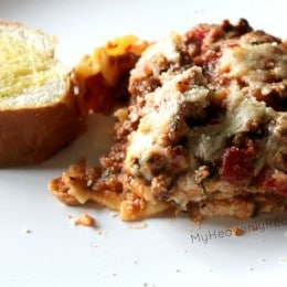 Homemade Lasagna is easier to think to make. It's always delicious and one of our families favorite recipes.