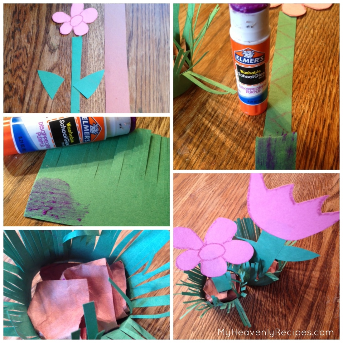 Spring craft for kids: Spring Flowers Collage