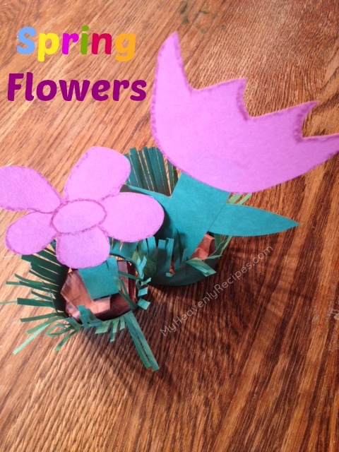 Spring Craft For Kids Spring Flowers My Heavenly Recipes