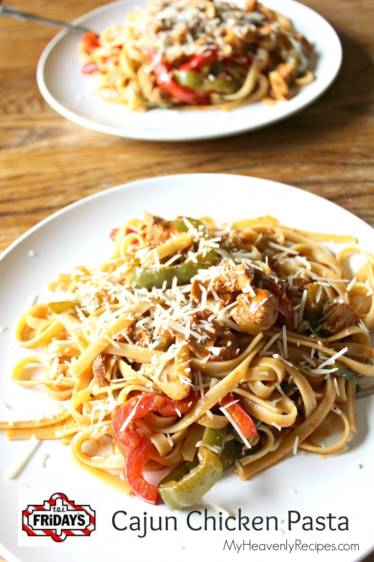 titled image (and shown): TGI Friday's copycat Cajun Chicken Pasta