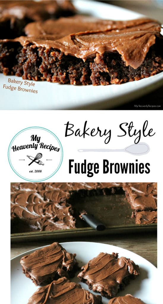 Bakery Style Fudge Brownies