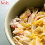 Slow Cooker Chicken Fajitas Pasta + Video