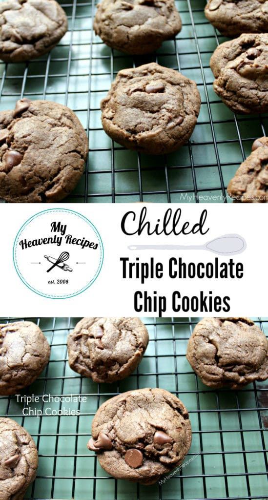 Chilled Triple Chocolate Chip Cookies