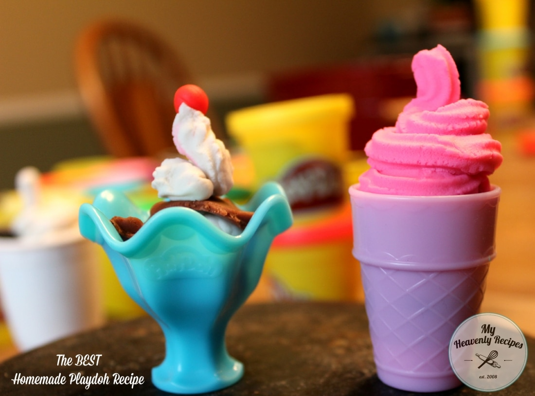 Homemade Playdough Recipe (Like Real Playdoh!)