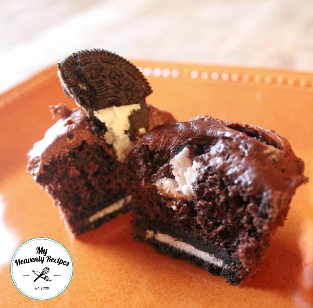 Oreo Surprise Cupcake