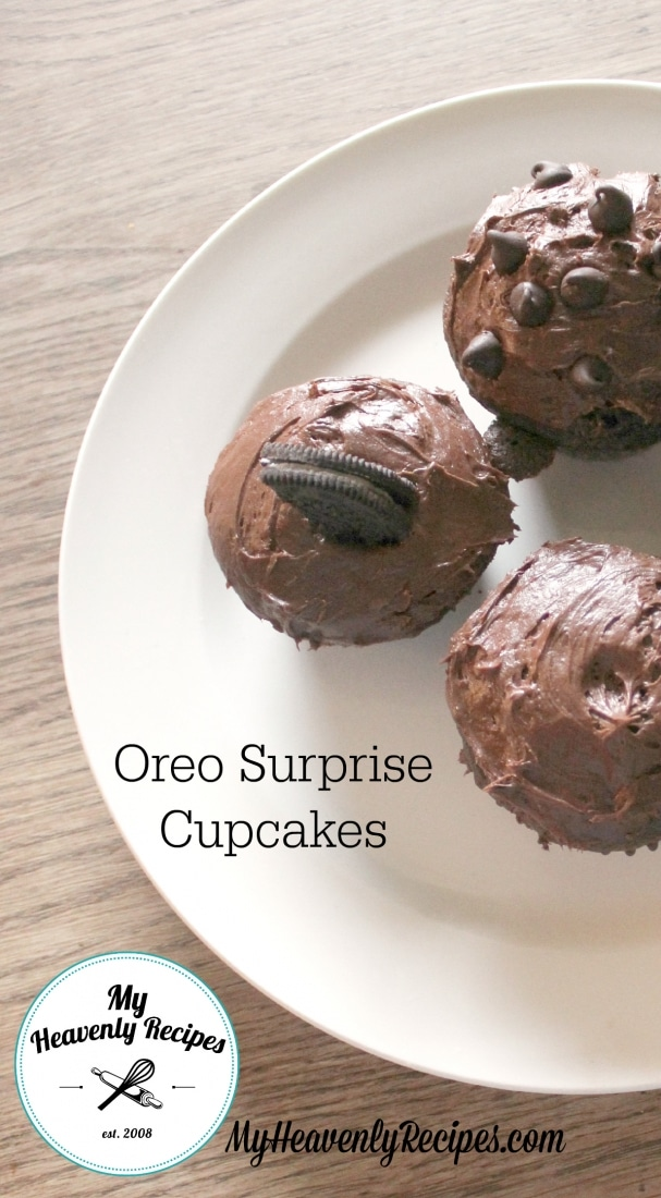 Oreo Surprise Chocolate Cupcake