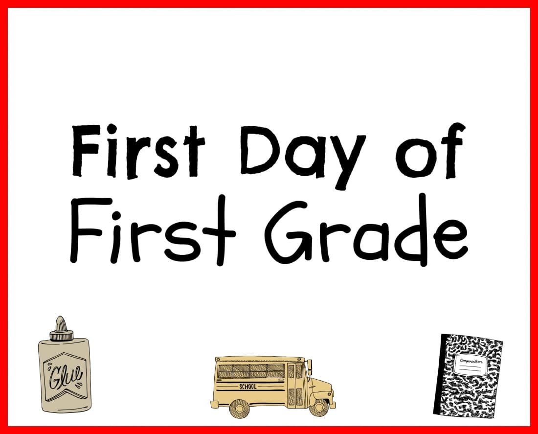 Back to School Printable First Grade