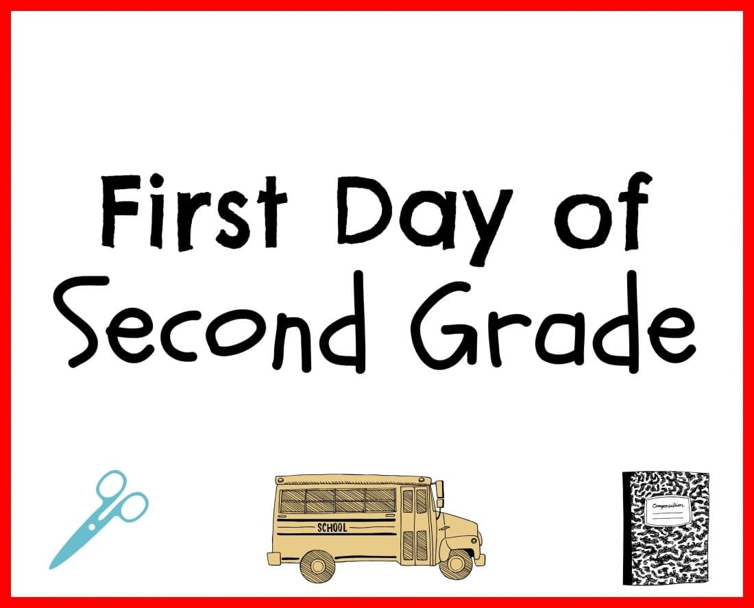 Back to School Printable Second Grade
