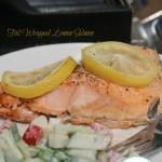 Foil Wrapped Lemon Salmon