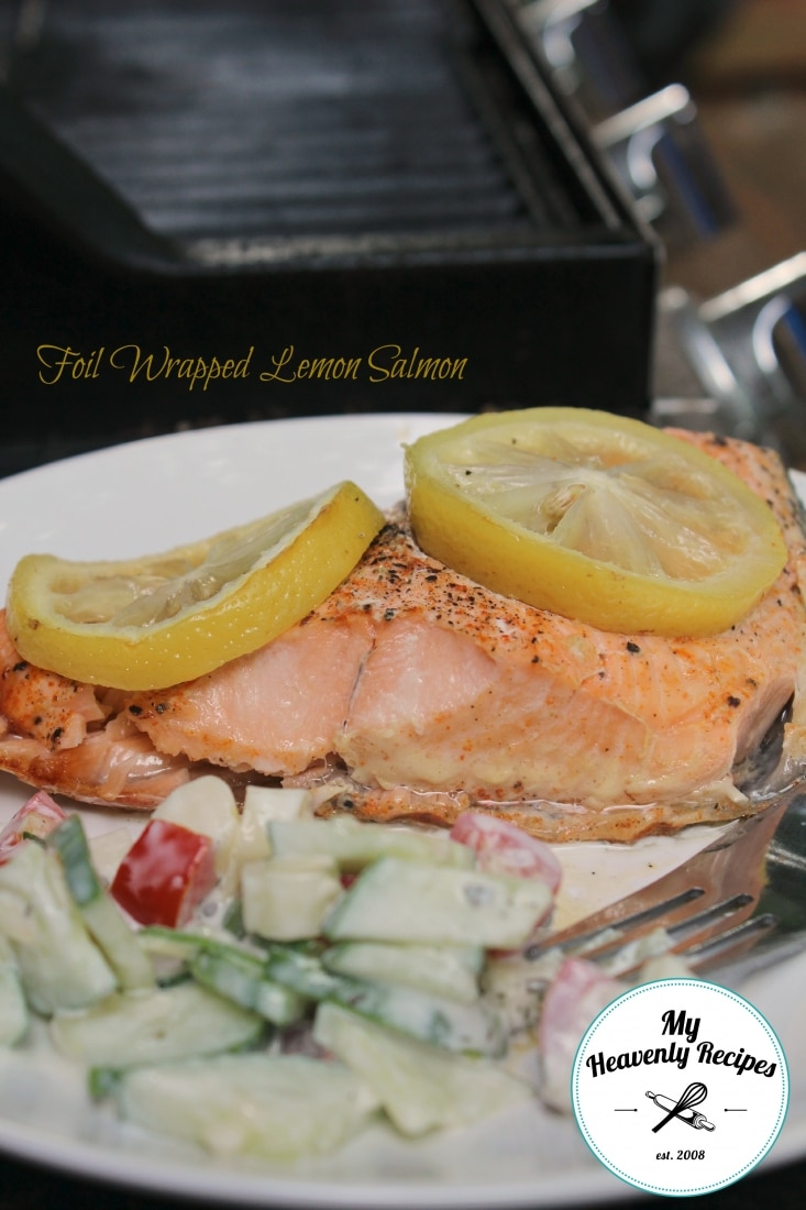 Foil Wrapped Lemon Salmon