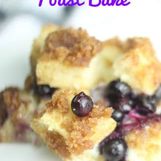 blueberry french toast bake served on plate