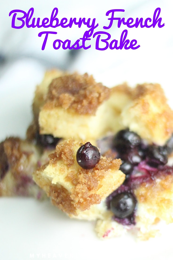 Whether you make this Blueberry French Toast Casserole the night before or the morning of, you can't go wrong with this breakfast! It's perfect for cool mornings and leaves your house smelling delicious all day long. #breakfast #recipe #blueberry @heavenlyrecipe