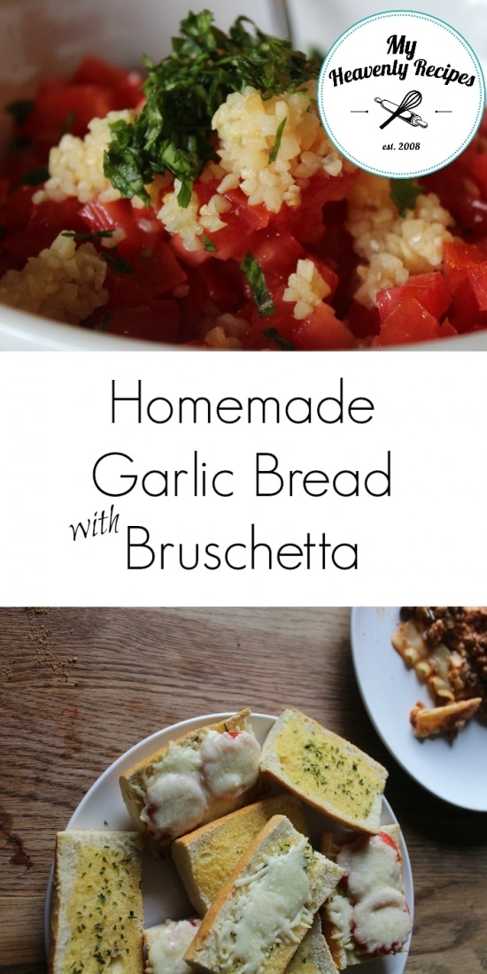 Homemade Garlic Bread with Bruschetta