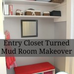 Hall Closet Turned Mudroom Makeover