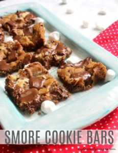 Grab these 3 simple ingredients, the kids and spend some time together making Smore Cookie Bars for dessert!