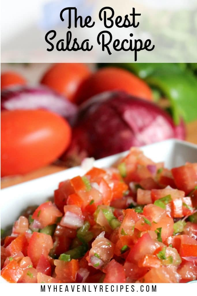 featured image of the best salsa recipe