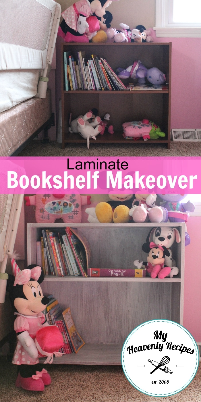 A Laminate Bookshelf Makeover That Used 2 Products & 20 Minutes