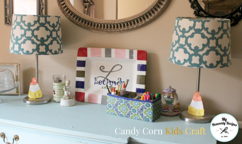 A Super Simple Candy Corn Craft made from construction paper