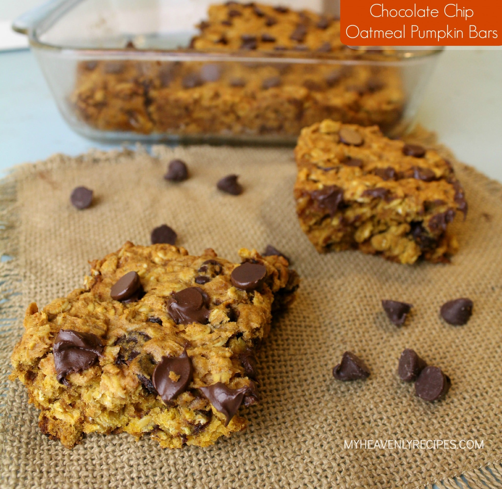 Chocolate Chip Oatmeal Pumpkin Bars
