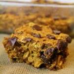 Chocolate Chip Oatmeal Pumpkin Bars + Video