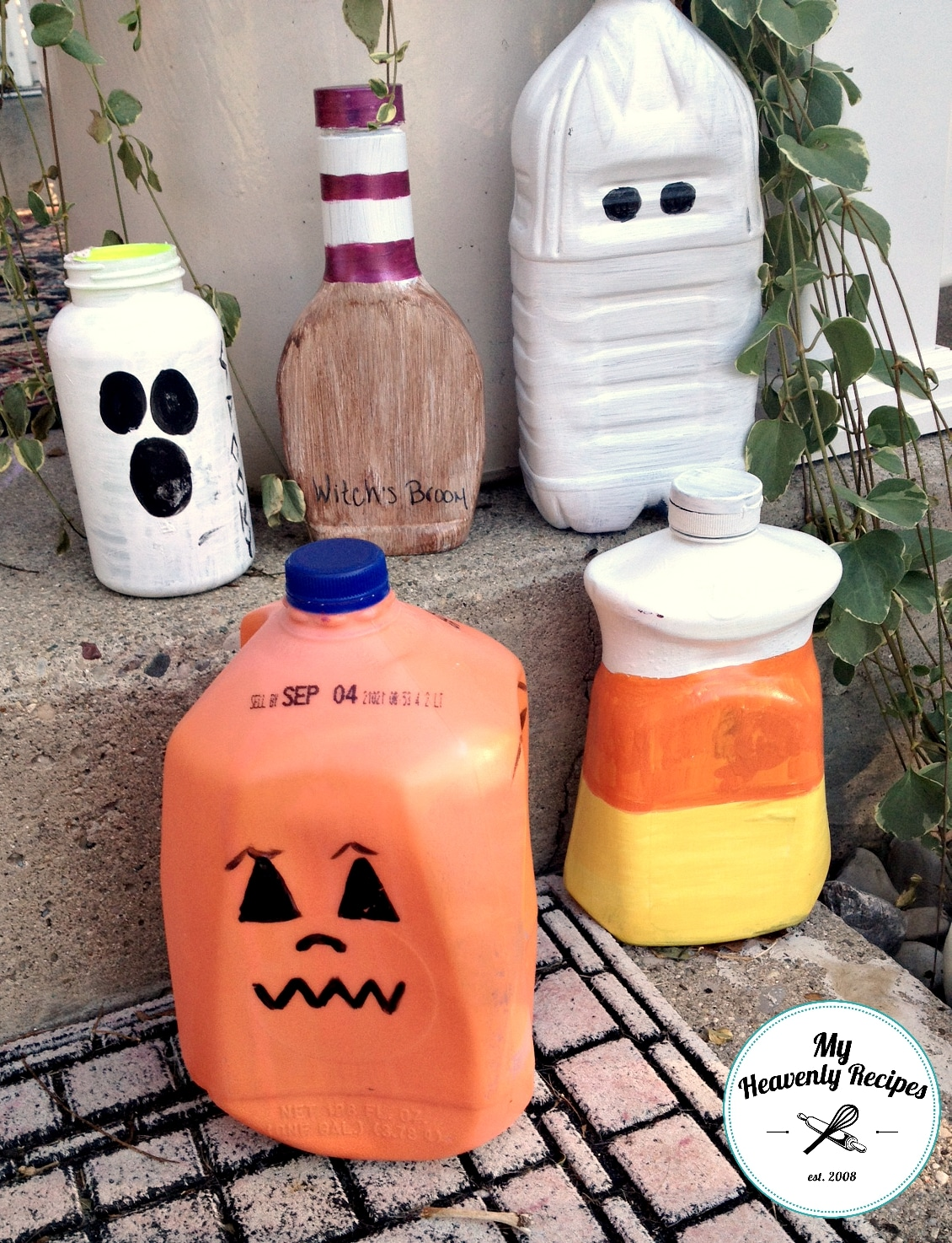 DIY Halloween Decoration Plastic Milk