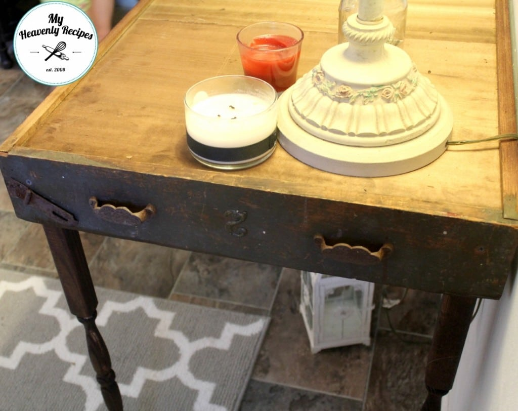 DIY Table From Antique Drawers Drawer Detail