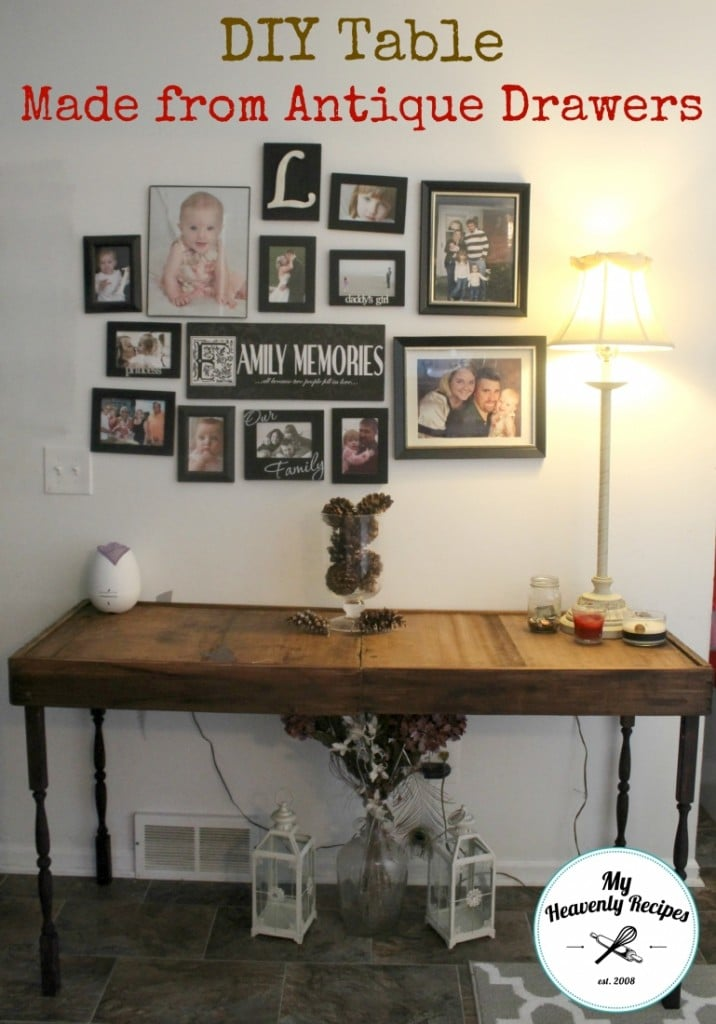 DIY Table Made From Antique Drawers