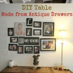 DIY Table Made From Old Drawers