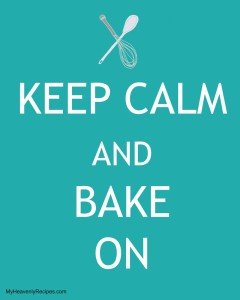 Keep Calm and Bake On Social Media Share