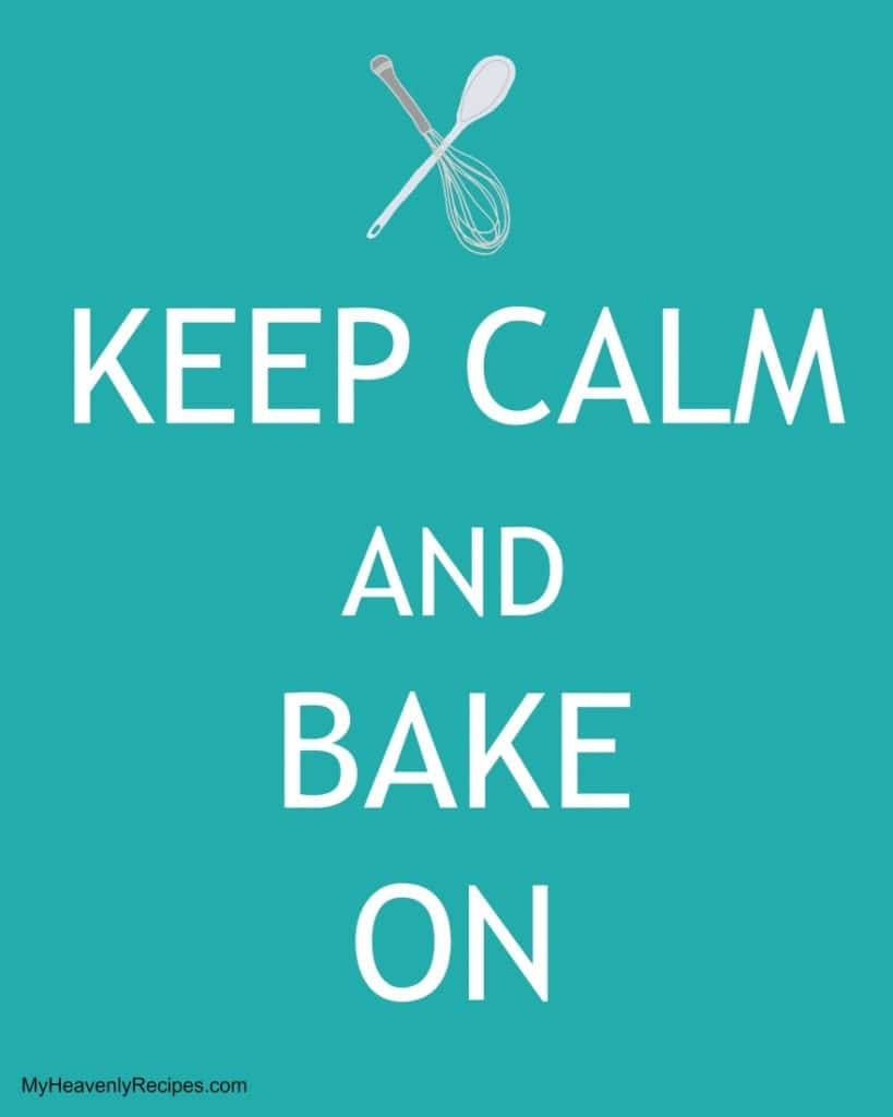 Keep Calm and Bake On printable image