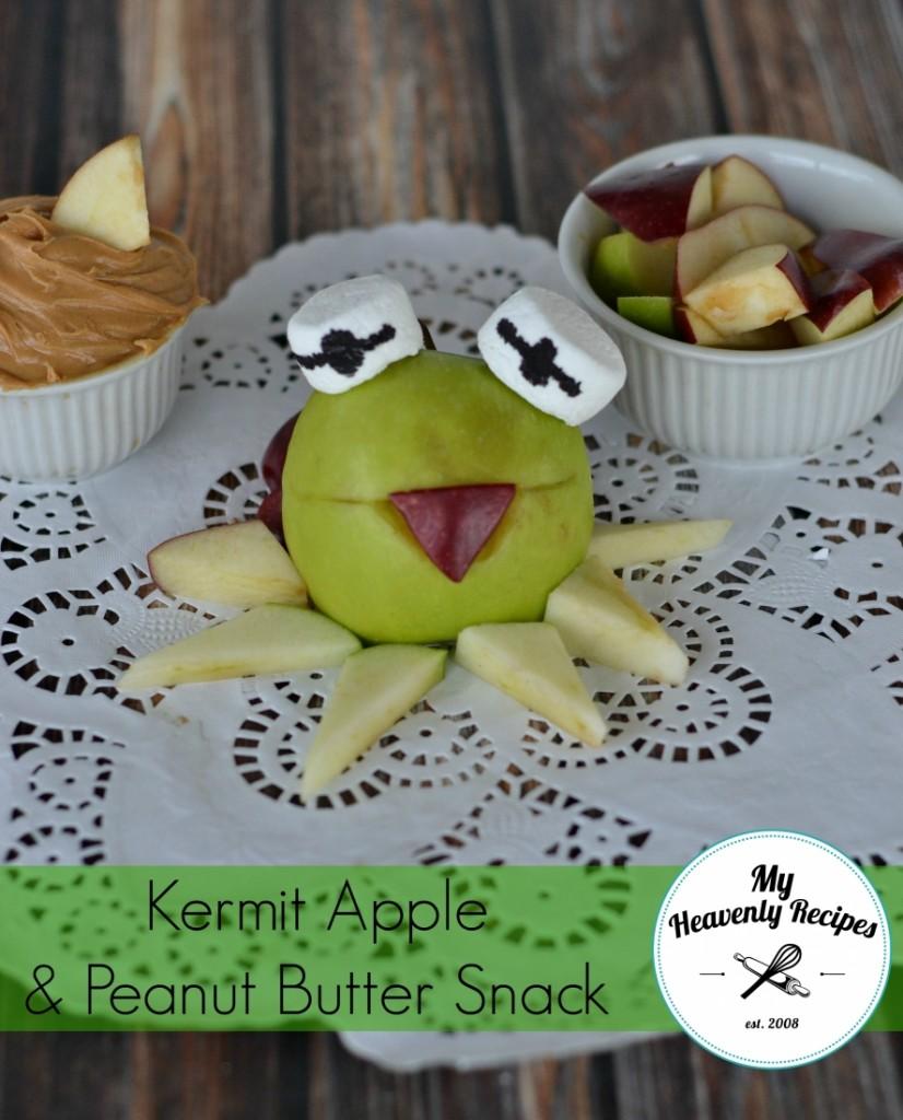 Kermit Apple & Peanut Butter Snack